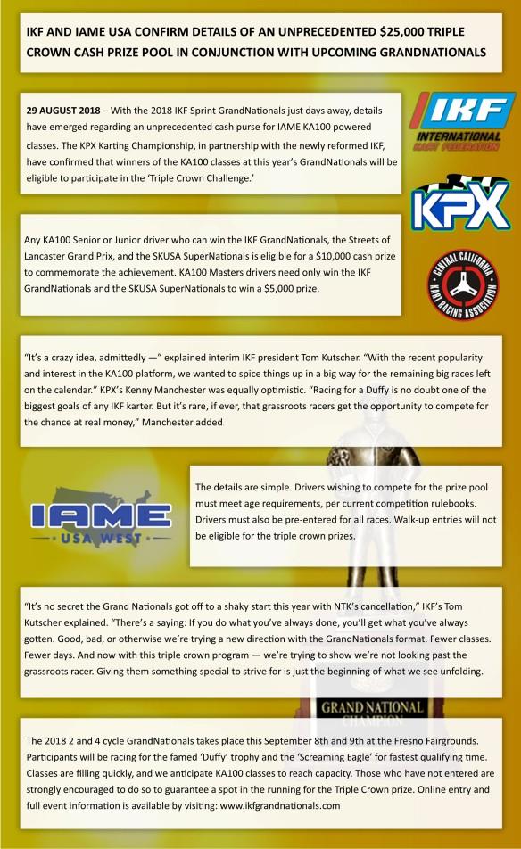 IKF-SKUSA Press Release